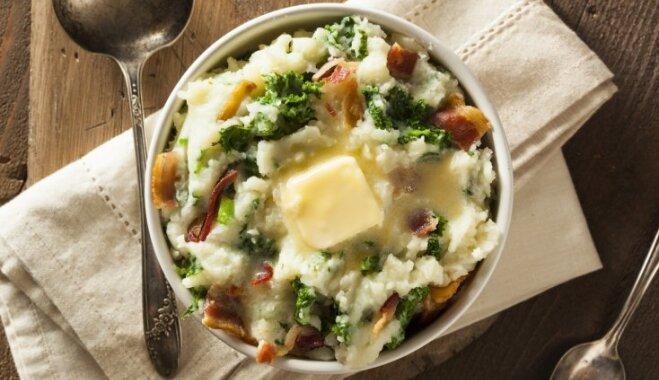 Kolkanons jeb sātīga kartupeļu biezputra 'īru modē'