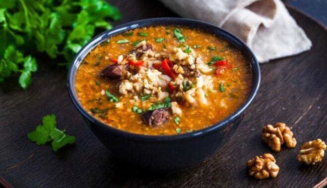 Грузинская гордость - ароматный суп харчо: шаг за шагом
