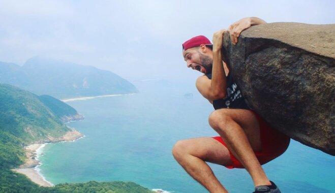 Izcils acu apmāns: vieta Riodežaneiro, kurā radīt šķietami bīstamas fotogrāfijas