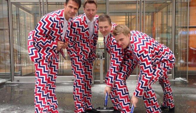 Norvēģu kērlingisti atkal izvēlas drosmīgu sporta tērpu dizainu