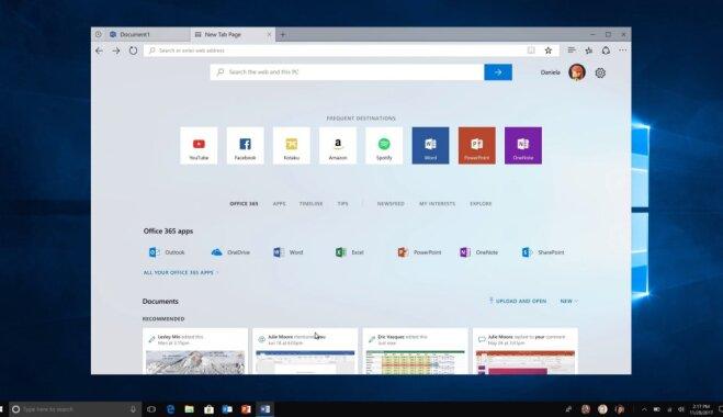 В новейшей версии Windows 10 облегчат дизайн