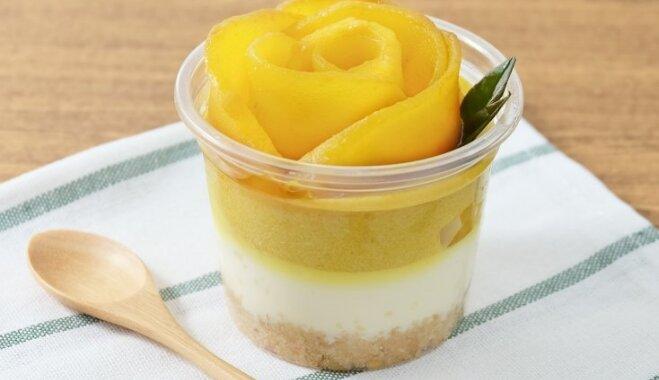 Mango siera kūkas trauciņos