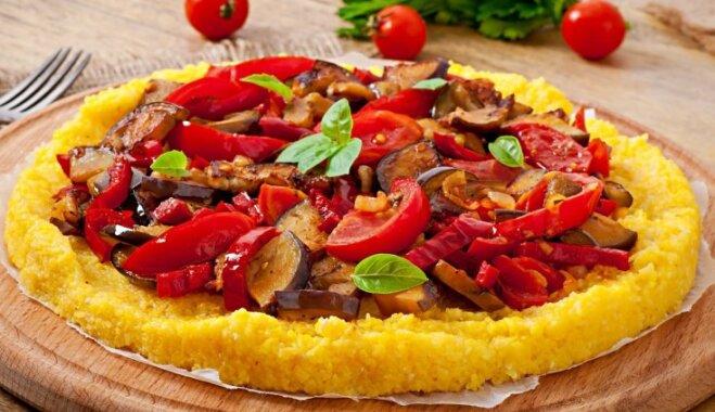 Polentas pica ar dārzeņiem