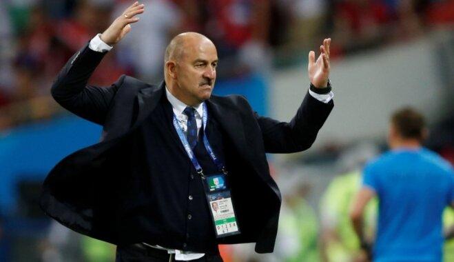 Spēlē pret Horvātiju mums pietrūka veiksmes, atzīst Čerčesovs