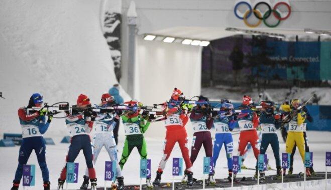 'Delfi' no Phjončhanas: vēja dēļ atceļ olimpiskās biatlona sacensības dāmām