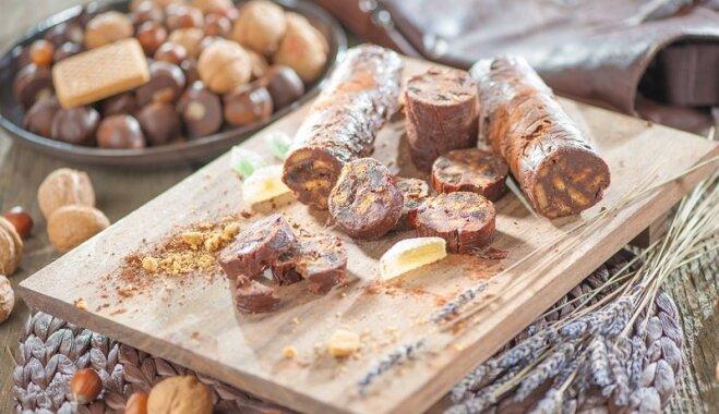saldā rulete, šokolādes desa ar piparkūkām