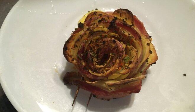 Рецепт на конкурс: Картофельная роза