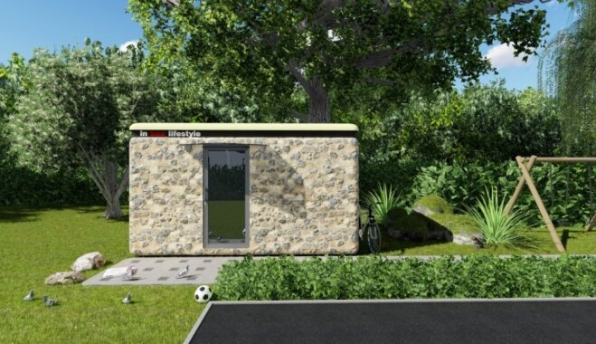 Latvijas uzņēmums radījis pārvietojamas stikla šķiedras mājas