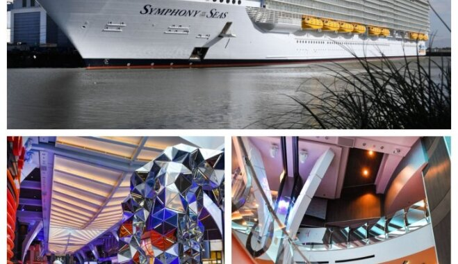 Foto: Kā izskatās lielākajā kruīza kuģī pasaulē