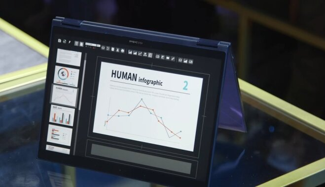 ВИДЕО: Asus представила прототип ноутбука с двумя сенсорными экранами