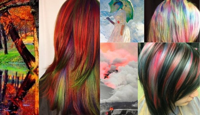 Matu krāsa, kas liek atskatīties. Friziere iedvesmojas no dabas un mākslas darbiem