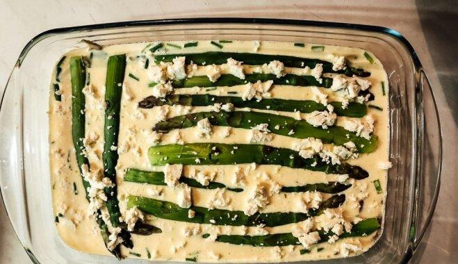 Рецепт с фото: фритатта со спаржей и сыром фета
