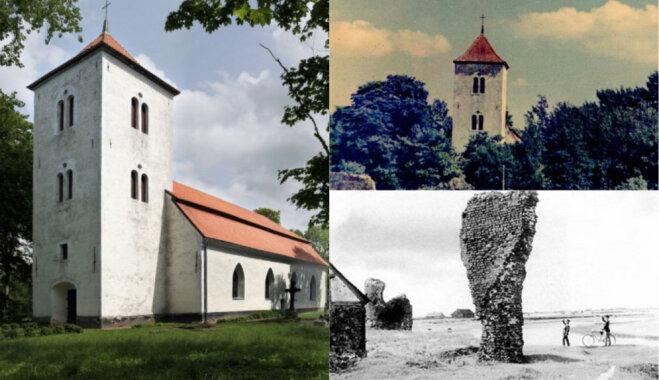 Ceļojums laikā: Piltenes baznīca, kas celta no slavenās bīskapa pils drupām