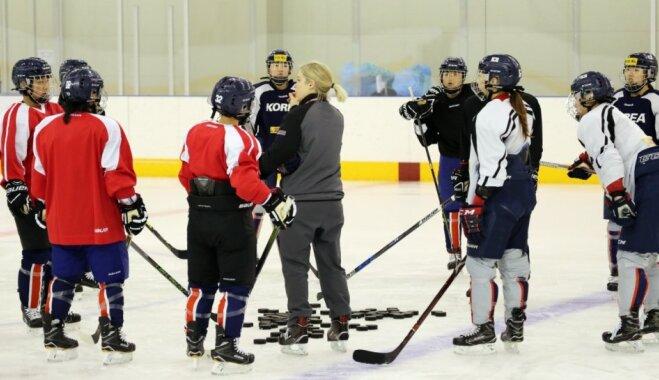 Apvienotās Korejas sieviešu hokeja izlases treniņus apgrūtina valodas barjera