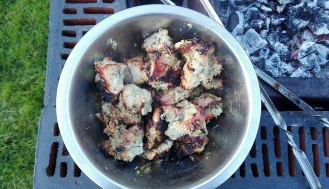 Сочный куриный шашлык в супер-быстром маринаде