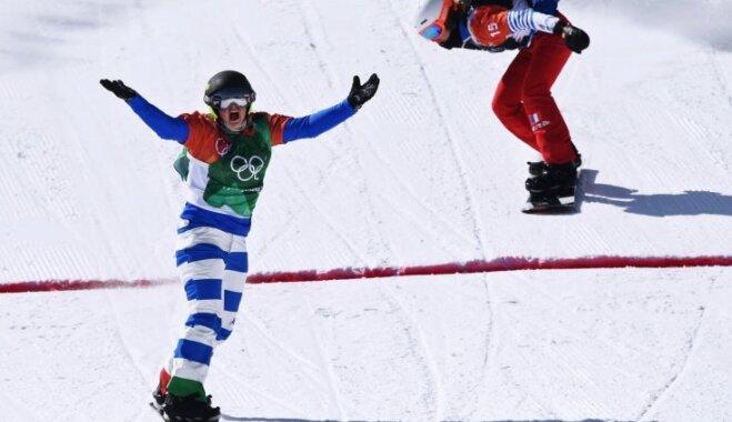 Itāliete Mojoli uzvar snovborda krosā un sagādā Itālijai otru zelta medaļu Phjončhanā
