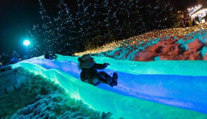 Foto: Ko sagaidīt no Ledus skulptūru festivāla Jelgavā