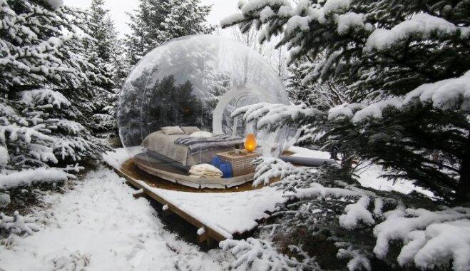 """В Исландии открылся отель """"Пять миллионов звезд"""" - со спальнями в прозрачных пузырях"""