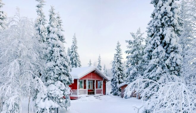 Ierosinājumi un piemēri, kā sniegotajā sezonā māju un tās apkārtni padarīt viesmīlīgāku