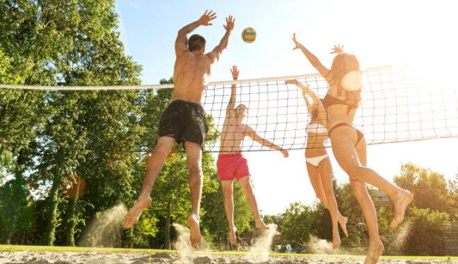 Ne tikai patīkama, bet arī veselīga izklaide - pludmales volejbols
