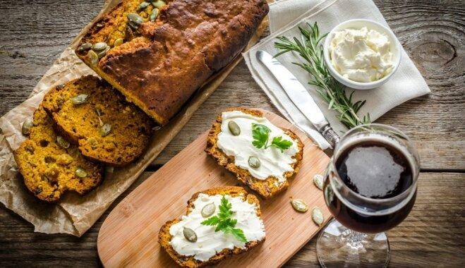Хлеб из тыквенно-пивного теста