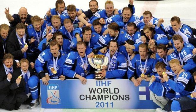 Somijas izlase pasaules čempionu godu mēģinās aizstāvēt ar 12 KHL hokejistu palīdzību