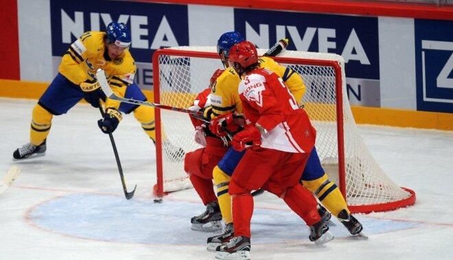 Zviedrijai rezultatīvā spēlē uzvara pār Dāniju