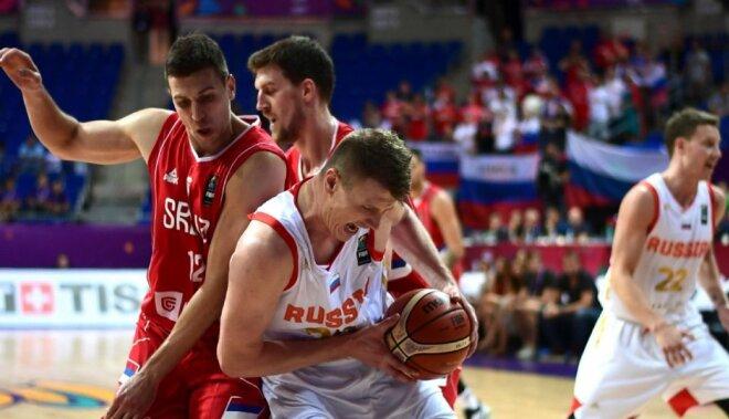 Krievijas basketbolisti negaidīti sarūgtina olimpisko vicečempioni Serbiju