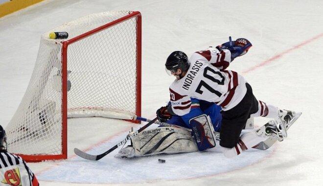 Latvija ar 'sauso' uzvaru turpina cīņu par ceturtdaļfinālu