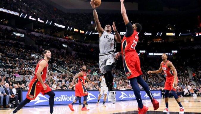 Bertāna pārstāvētā 'Spurs' izcīna ceturto uzvaru pēc kārtas