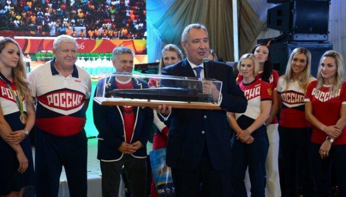 Prime Minister Dmitry Rogozin, Yevgeny Trefilov, head coach handball Russia team