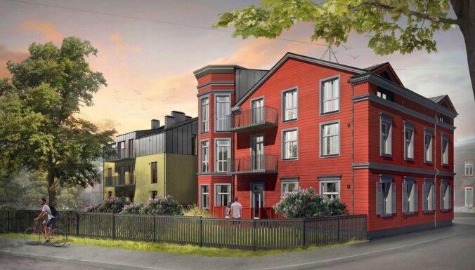 ФОТО. В Агенскалнсе построят новый многоквартирный дом: старое здание снесут