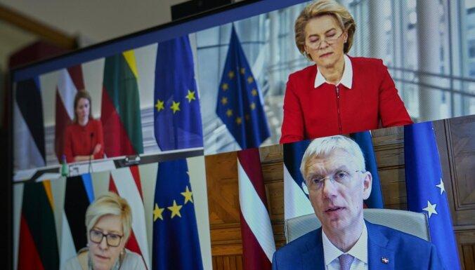 Baltijas premjeri aicina EK izveidot mehānismu Covid-19 vakcīnu saņemšanai pandēmijas visvairāk skartajām dalībvalstīm