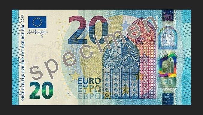 ФОТО: В обращение поступает новая банкнота номиналом 20 евро