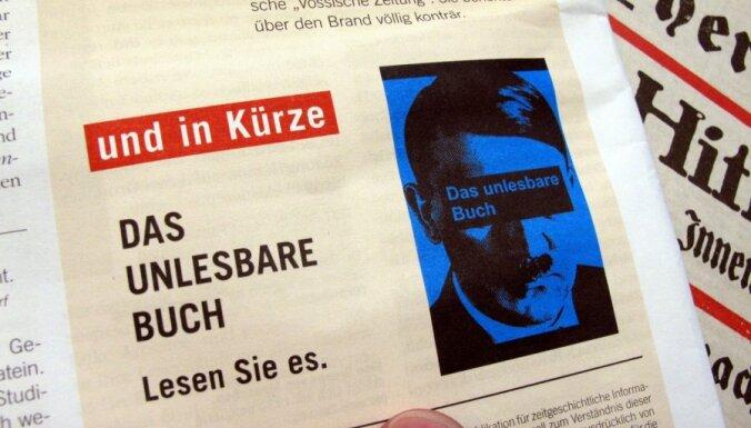 Vācijas kioskos nopērkamajā 'Mein Kampf' izdevumā Hitlera teksts būs aizkrāsots