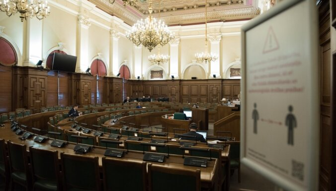 Saeima otrdien turpinās debates par vidēja termiņa budžeta ietvaru 2021., 2022. un 2023. gadam. Teksta tiešraides arhīvs