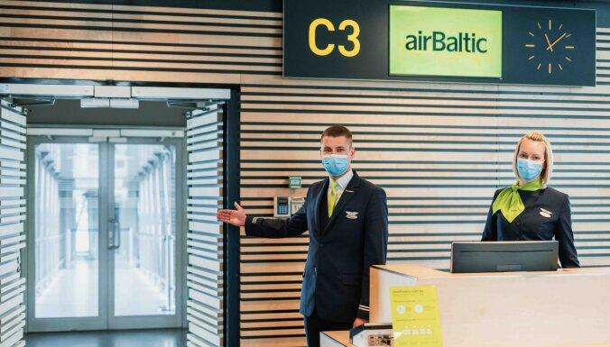 При регистрации на рейс и перед посадкой пассажиров будут обслуживать работники airBaltic