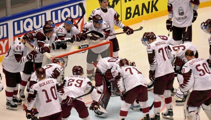 Сборная Латвии одержала самую крупную победу на чемпионатах мира с 2012 года