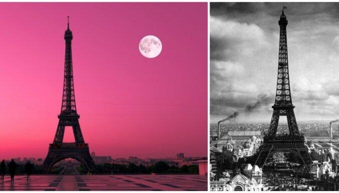 Vēsturiski foto: No 'suņanaglas pakaļā' līdz pilsētas simbolam. Eifeļa tornim – 130