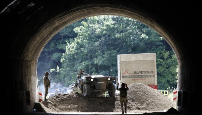 Saasinājusies situācija uz Kosovas un Serbijas robežas