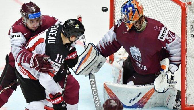 Сборная Латвии на чемпионате мира лишь в овертайме уступила главным фаворитам — канадцам