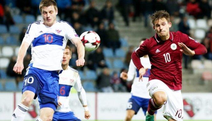 Сборная Латвии по футболу ушла от поражения в матче против фарерцев
