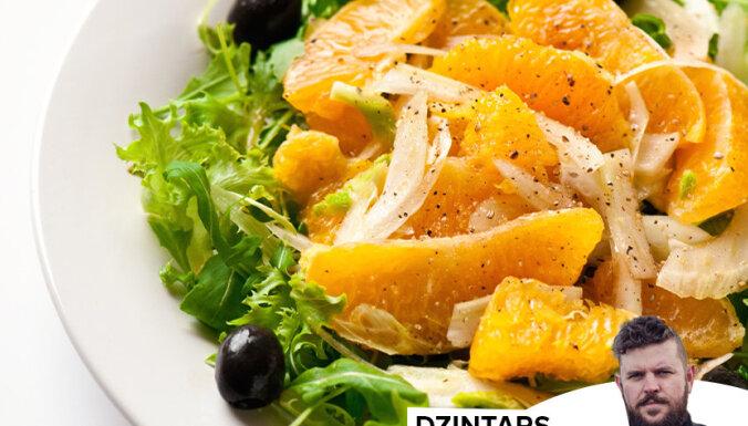 Apelsīnu salāti ar fenheli un variāciju