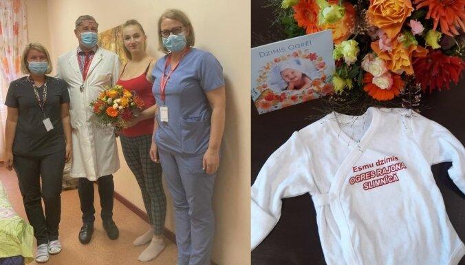 Mičuļu ģimenes dēliņš – 400. jaundzimušais Ogres rajona slimnīcā