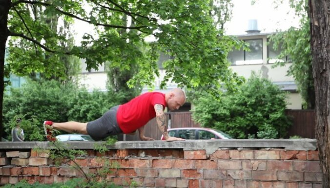ВИДЕО: Комплекс силовых упражнений на свежем воздухе