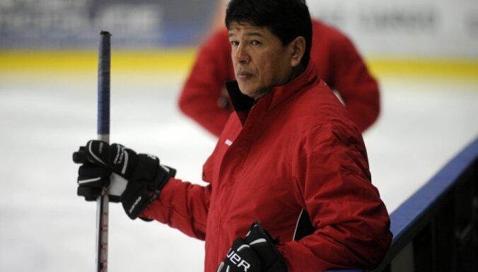 Latvijas hokeja izlase aizvada pirmo pārbaudes spēli pirms PČ