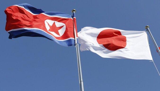 Japānas ārlietu ministrija: Ziemeļkoreja joprojām apdraud Japānu