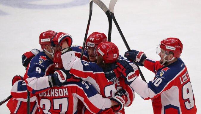 CSKA kā pēdējā sasniedz Gagarina kausa pusfinālu