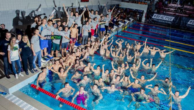 """Мировой рекорд Гиннеса устоял после """"ночного заплыва"""" в бассейне на Кипсале"""