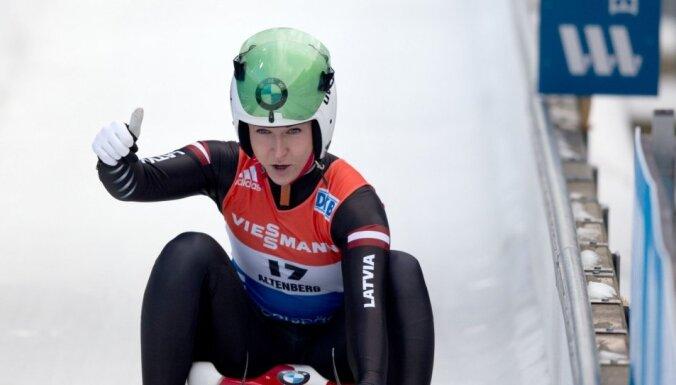 Цауце принесла Латвии медаль на чемпионате мира по санному спорту